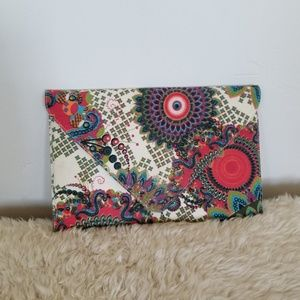 Handbags - Paisley Envelope Purse with Chain